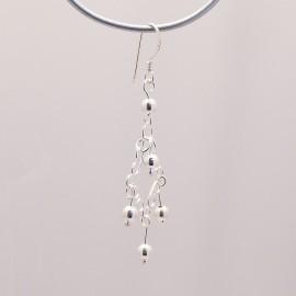 Boucles d'oreilles pendantes en argent 925 oreilles percées -