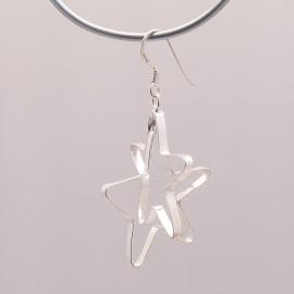 Boucles d'oreilles étoiles en argent 925 oreilles percées -