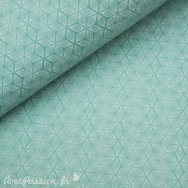 Papier népalais lokta alba vert d'eau et blanc
