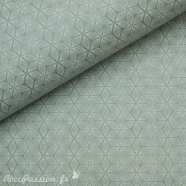 Papier népalais lokta alba vert et blanc