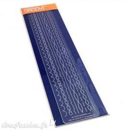 Règle tracage bordures Groovi pour Pergamano 8 motifs