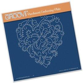 Gabarit coeur arabesque Groovi de Claritystamp