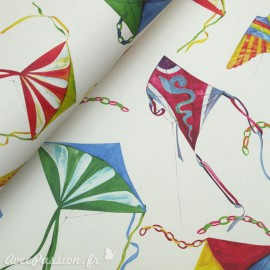 Papier tassotti motifs cerf volant