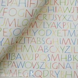 Papier tassotti motifs alphabet multicolore