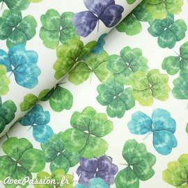 Papier tassotti motifs trèfles quatre feuilles