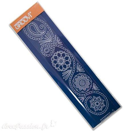 Règle tracage bordures Groovi pour Pergamano fleurs et arabesques
