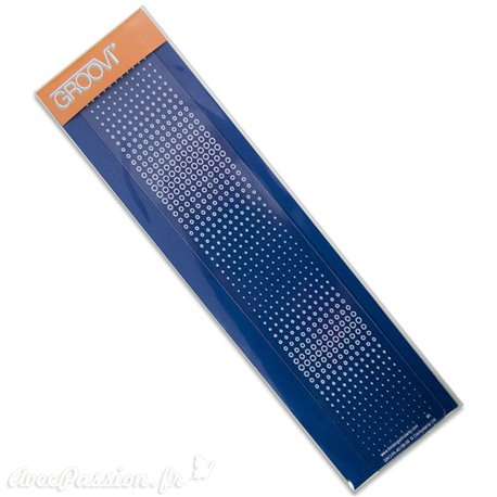Règle tracage bordures Groovi pour Pergamano poids