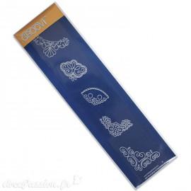 Règle tracage bordures Groovi pour Pergamano coins arabesques