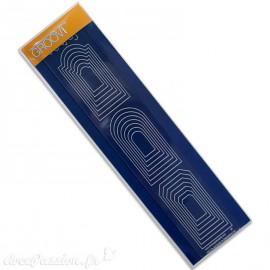 Règle tracage bordures Groovi pour Pergamano arches imbriquées