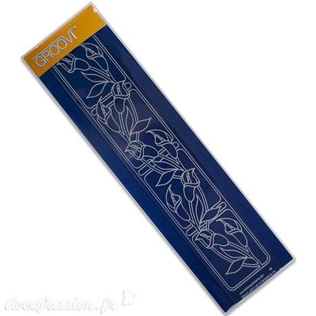 Règle tracage bordures Groovi pour Pergamano fleurs arums