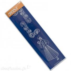 Règle tracage bordures Groovi pour Pergamano femme années 20 velvet