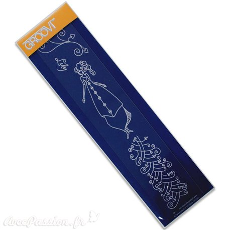 Règle tracage bordures Groovi pour Pergamano femme lily