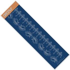 Règle tracage bordures Groovi pour Pergamano fleurs et bougies
