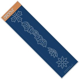 Règle tracage bordures Groovi pour Pergamano fleurs