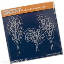 Gabarit tracage arbres Groovi pour Pergamano