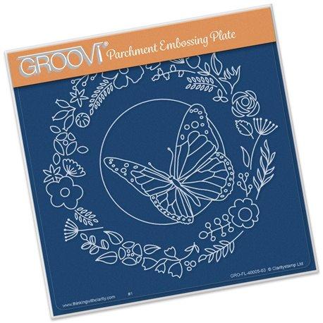 Gabarit tracage papillon Groovi pour Pergamano