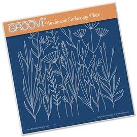 Gabarit tracage fleurs des champs Groovi pour Pergamano