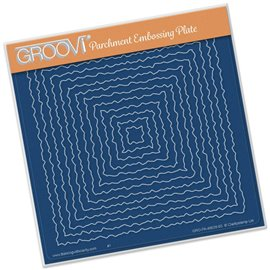 Gabarit tracage carrés dentelés Groovi pour Pergamano