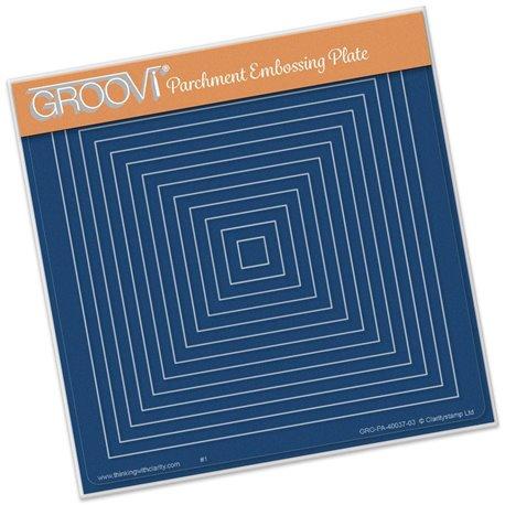 Gabarit tracage carrés Groovi pour Pergamano