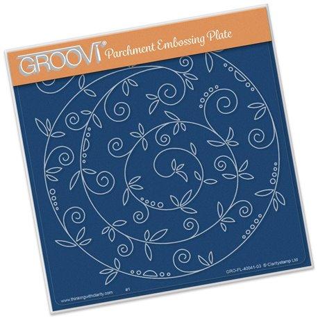 Gabarit tracage spirale arabesque Groovi pour Pergamano