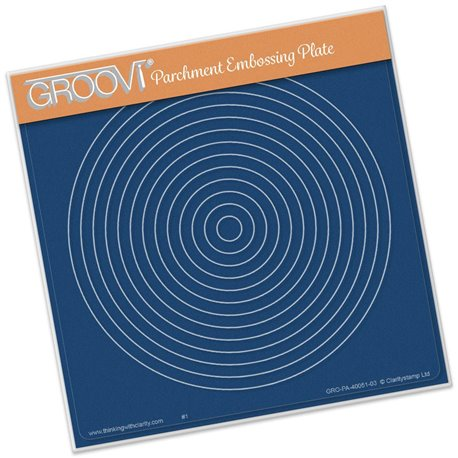 Gabarit tracage cercles imbriqués Groovi pour Pergamano