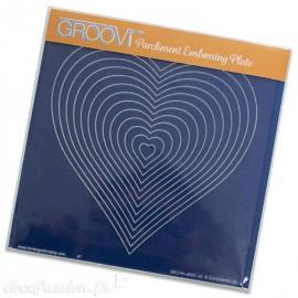 Gabarit tracage cœurs imbriqués Groovi pour Pergamano