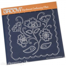 Gabarit tracage fleurs Groovi pour Pergamano