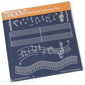 Gabarit tracage portée de musique Groovi pour Pergamano