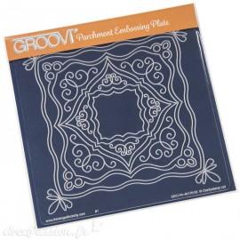 Gabarit tracage cadre décoré Groovi pour Pergamano