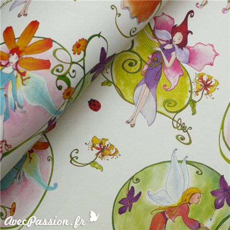 Papier tassotti motifs flower fairies