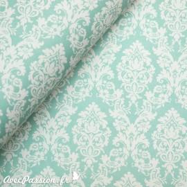 Papier tassotti motifs arabesques vert d'eau