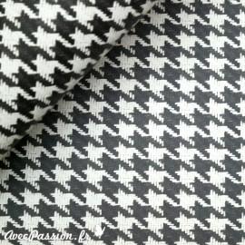 Papier tassotti motifs pied de poule noir