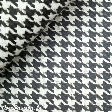 Papier italien tassotti pour cartonnage motifs pied poule noir - Motif pied de poule ...