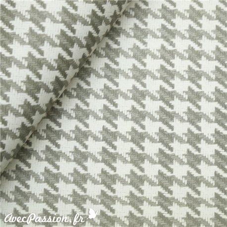 Papier tassotti motifs pied de poule gris