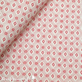 Papier tassotti motifs semis rouge