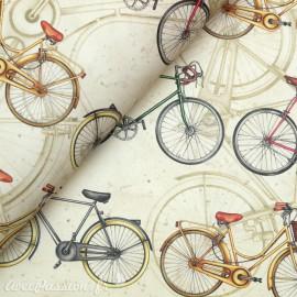 Papier tassotti motifs vélo