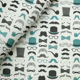 Papier tassotti motifs moustache accessoires homme