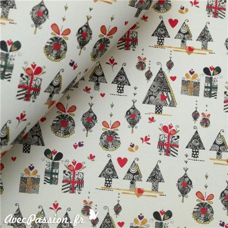 Papier tassotti motifs paquets cadeau noel