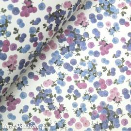 Papier tassotti motifs petites fleurs ton de violet