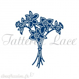 Dies découpe gaufrage matrice Tattered Lace fleurs narcisses