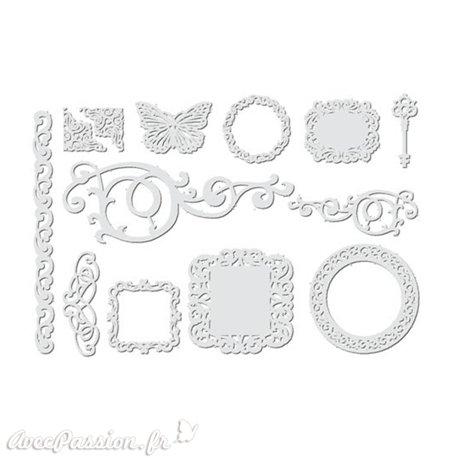 Découpes en papier blanc 12 motifs