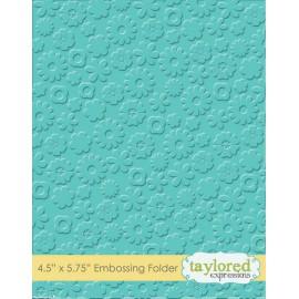 Classeur gaufrage embossage motifs fleurs taylored expressions 1p