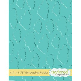 Classeur gaufrage embossage motifs nuages taylored expressions 1p