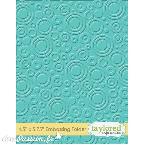 Classeur gaufrage embossage motifs spot rond  taylored expressions 1p