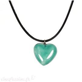 Collier fantaisie créateur Marie Pastorelli coeur bleu turquoise -