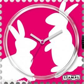 Cadran de montre Stamps bunny love