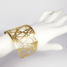 Manchette métal RAS doré croisillons