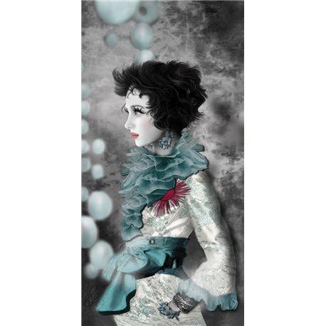 Carte d'art Valie Le Boeuf Lilly
