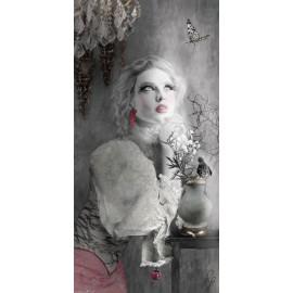 Carte d'art Valie Le Boeuf Lucile 14x28 cm