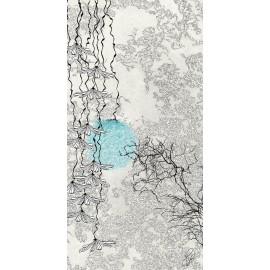 Carte d'art Valie Le Boeuf Vies Bleues Antérieures 14x28 cm